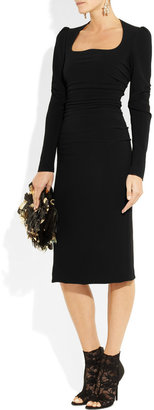 Dolce & Gabbana Ruched stretch-crepe dress