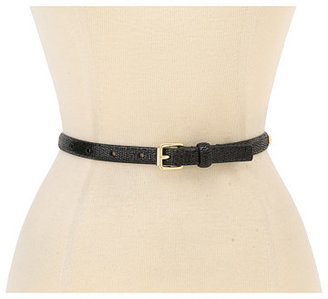 """Vince Camuto 5/8"""" Shiny Reptile Panel Belt With Side Studs and Roller Buckle"""