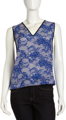 Yigal Azrouel Cut25 by Lace-Print Relaxed Tank