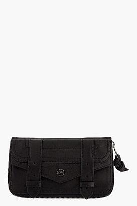 Proenza Schouler Large Black Leather PS1 Zip Wallet