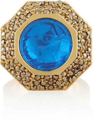 Mawi Gold-plated Swarovski crystal ring