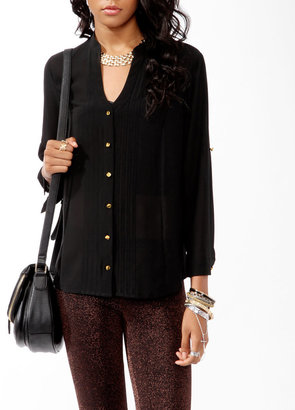 Forever 21 3/4 Sleeve Button Up