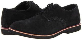 Walk-Over Derby (Black Suede/Purple Welt) - Footwear