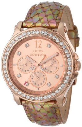 Juicy Couture Women's 1901065 Pedigree Bronze Metallic Leather Strap Watch $179 thestylecure.com