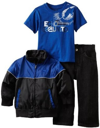Ecko Unlimited Boys 2-7 Jacket Jean Set With Tee Shirt
