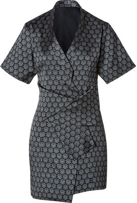 Kenzo Eye Print Wrap Dress