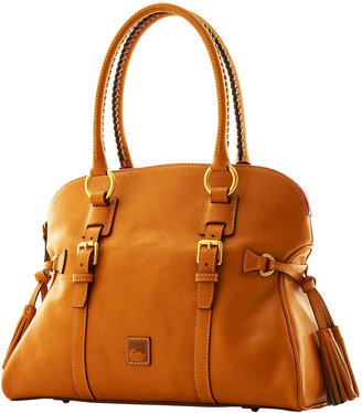 Florentine Domed Buckle Satchel $398 thestylecure.com