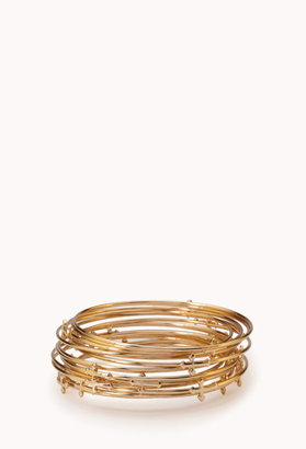 Forever 21 Bold Cross Bangle Set