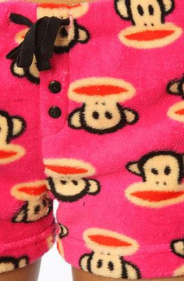 Paul Frank The Monkey Head Plush Sleep Short in Pink