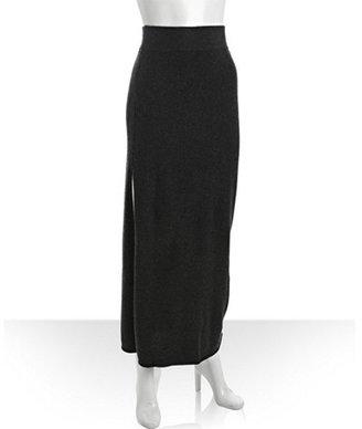 Wyatt charcoal cashmere maxi skirt