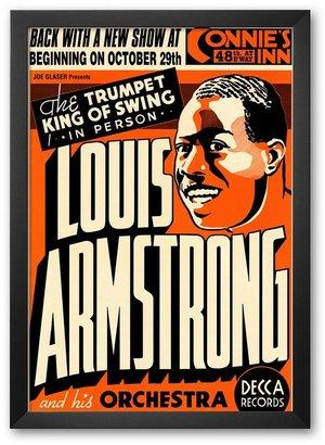 "Art.com Louis Armstrong at Connie's Inn, New York City, 1935"" Framed Art Print By Dennis Loren"