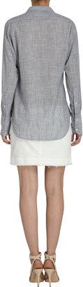 Nili Lotan Fine-striped Button Front Shirt