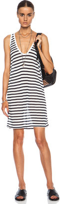 Alexander Wang Stripe Tank Rayon-Blend Dress