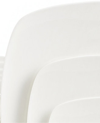 Gibson White Elements Hampton Square 42-Piece Set, Service for 6