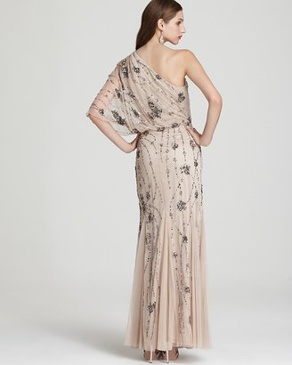 Adrianna Papell Gown - One Shoulder Sequin