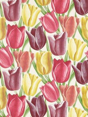 Sanderson Early Tulips Wallpaper, DVIWEA103, Aubergine / Red