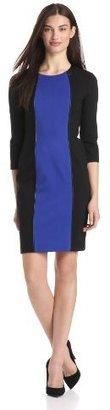 Donna Morgan Women's Jewel Neck Color Block Shift Dress