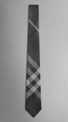 Burberry Check Silk Tie