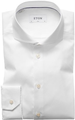 Eton White Extreme Cut Away Shirt - Slim Fit