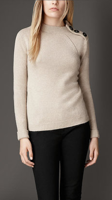 Burberry Button Detail Cashmere Sweater