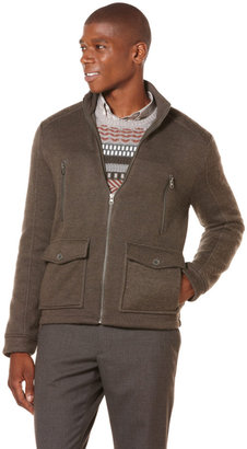 Perry Ellis Knit Bomber Jacket
