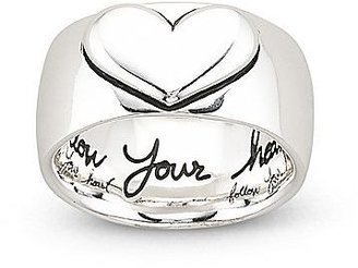 JCPenney Silver Follow Your Heart Ring