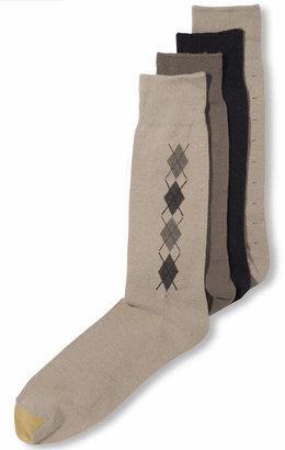 Gold Toe Men Socks, 4 Pack Clocking Dress Men Socks