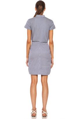 Vanessa Bruno Alison Knotted Cotton Dress in Marine