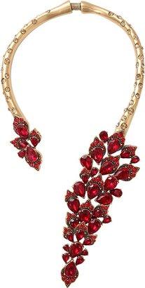 Oscar de la Renta Open Front Jeweled Necklace