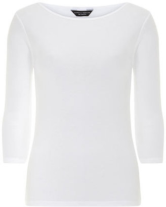 Dorothy Perkins White 3/4 slash basic t-shirt