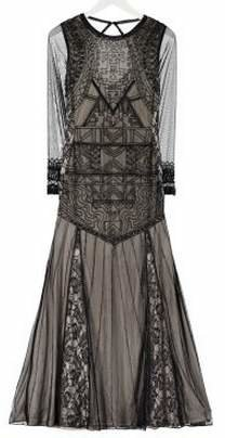 Frock and Frill Sleeved Lace Gown