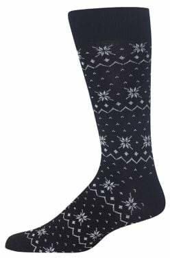 Hot Sox Fair Isle Mid-Calf Socks