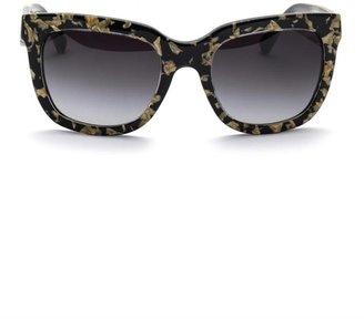 Dolce & Gabbana Gold leaf inlay square sunglasses