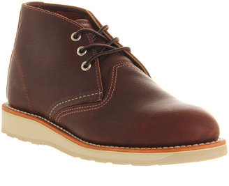 Red Wing Shoes Chukka Boots Dark Brown Leather