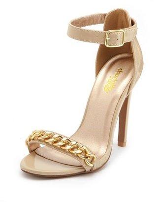 Charlotte Russe Chain Link Strap Single Sole Heel