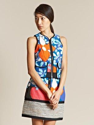 Peter Pilotto Women's Digital Print Zip Vest Top