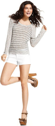 Celebrity Pink Jeans Juniors Shorts, Denim White Wash