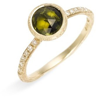 Marco Bicego 'Jaipur' Tourmaline & Pavé Diamond Stackable Ring