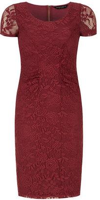 Dorothy Perkins Raspberry lace pencil dress