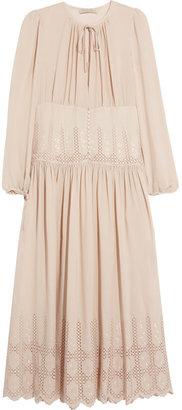 Vanessa Bruno Broderie anglaise silk maxi dress