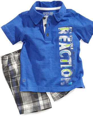 Kenneth Cole Kids Set, Little Boys 2-Piece Polo and Shorts Set