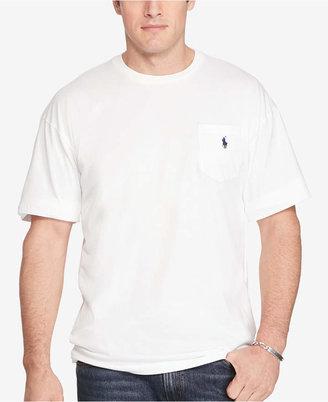 Polo Ralph Lauren Men's Big and Tall Pocket Cotton T-Shirt $49.50 thestylecure.com