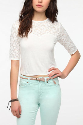 Urban Outfitters Tela Lace Sweetheart Crop Top