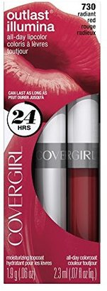 COVERGIRL Outlast Illumia All-Day Moisturizing Lip Color, Radiant Red  .13 oz (4.2 g) $7.99 thestylecure.com