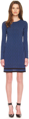 Michael Kors Printed Long-Sleeve Dress