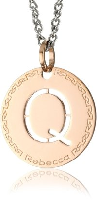"Rebecca Word"" Rose Gold Over Bronze Letter ""Q"" Necklace"