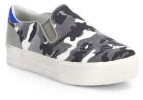 Ash Jungle Camouflage-Print Laceless Sneakers