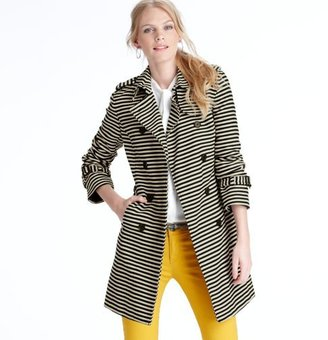 LOFT Tall Corded Dobby Striped Trench