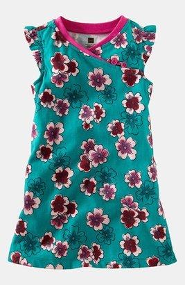 Tea Collection 'Plum Blossom' Minidress (Toddler Girls, Little Girls & Big Girls) Turquoise 2T