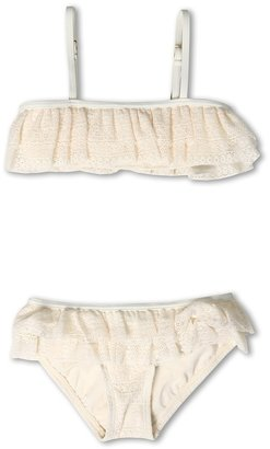 Juicy Couture Dollface Lace Ruffle Bandeau w/ Ruffle Bottom (Toddler/Little Kids/Big Kids) (Angel) - Apparel